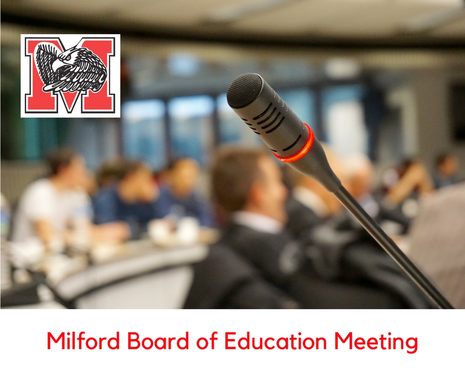 Board of Education public meeting graphic