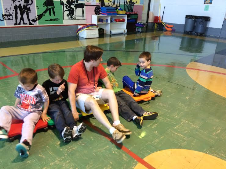 students at preschool