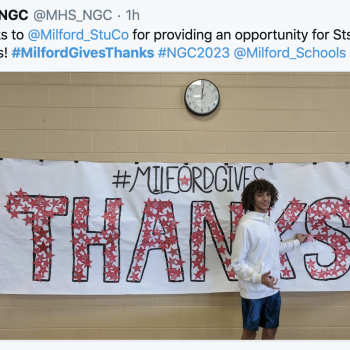 MilfordGivesThanks