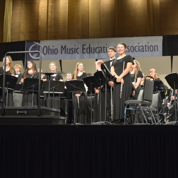 Milford HS Wind Ensemble Performs at OMEA Conference