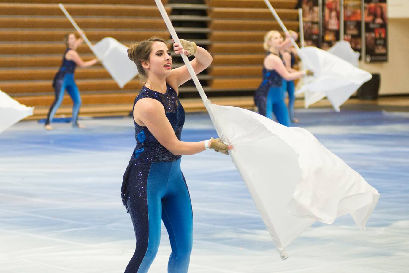 winter guard continues undefeated season