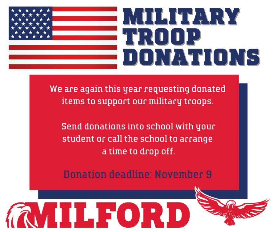military troop box donations