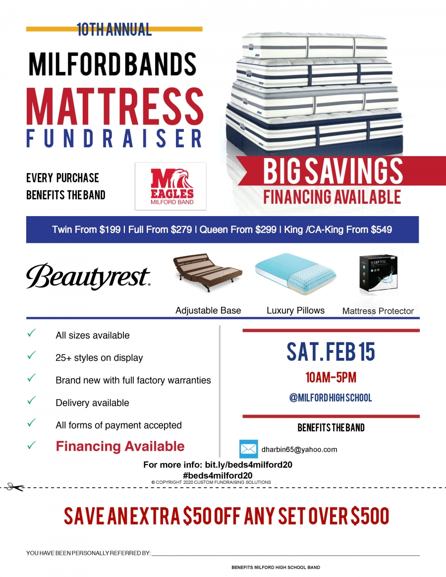 band mattress fundraiser