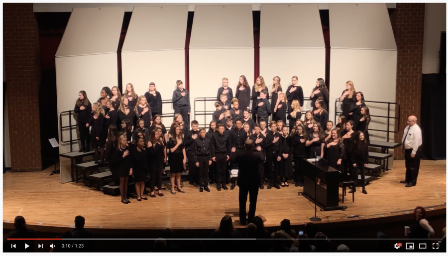 screenshot of choir concert video