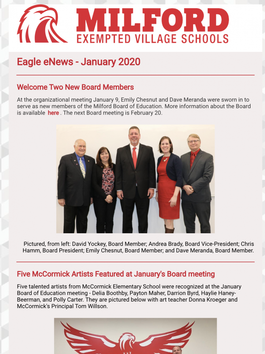 Eagle E-News January 2020